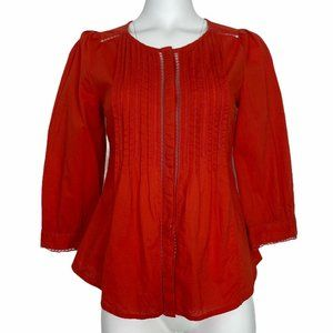 Anthropologie Meadow Rue Pleated Fluted Blouse 2
